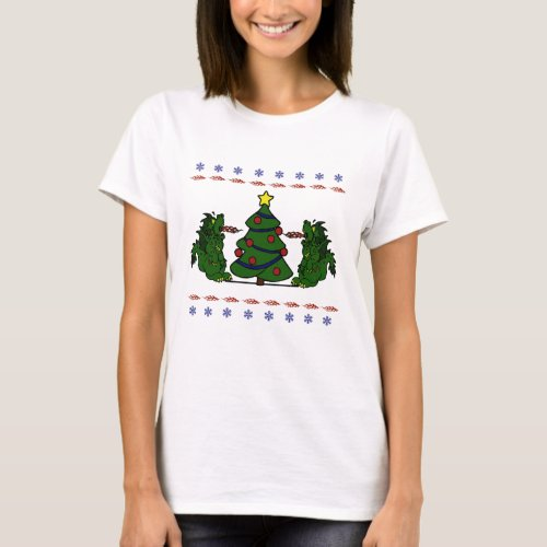Double Dragon Christmas Tree Ugly Sweater Design After Christmas Sales 5113