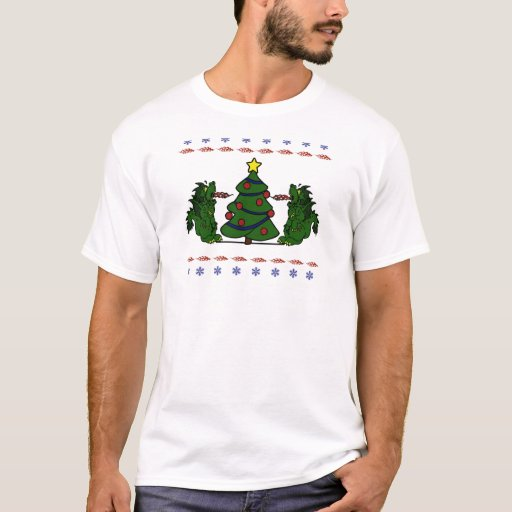 Double Dragon Christmas Tree Ugly Sweater Design