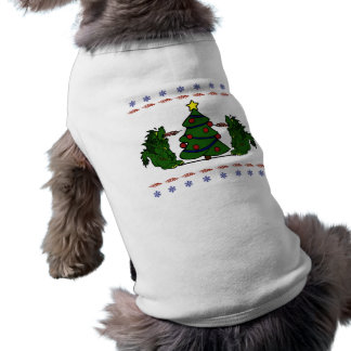 Double Dragon Christmas Tree Ugly Sweater Design T-Shirt