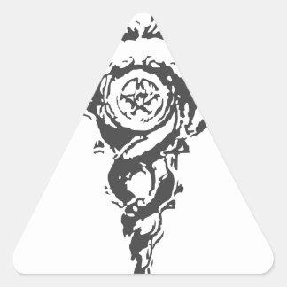 double dragon triangle sticker