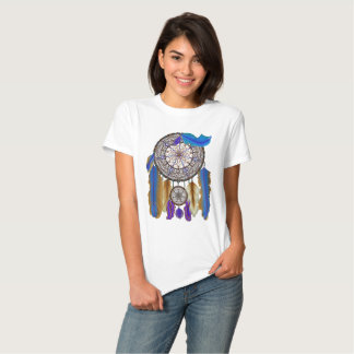 double dream catcher in blue yellow t shirt