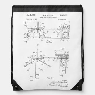 Double Drum Beating Apparatus Drawstring Bag