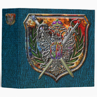 Double Eagle & Crossed Swords Coat of Arms Binder