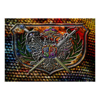 Double Eagle & Crossed Swords Coat of Arms Posters