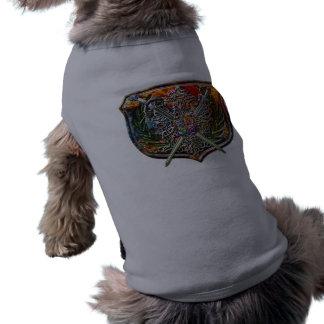 Double Eagle & Crossed Swords Shield Crest T-Shirt