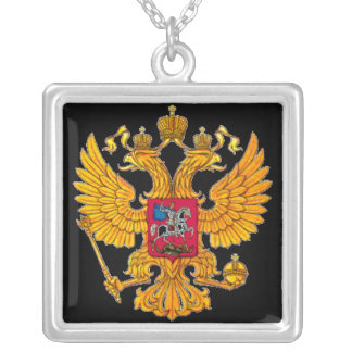 Double Eagle Silver Plated Necklace