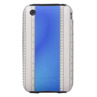 Double Edged Ruler on Blue iPhone 3 Tough Cover