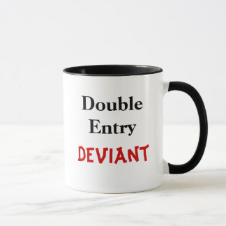 Double Entry Deviant Mug