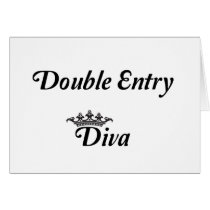 Double Entry Diva Card