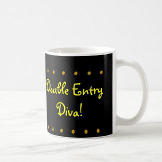 Double Entry Diva! Female CPA Congratulations Mug