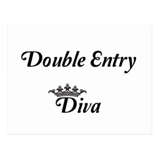 Double Entry Diva Postcard