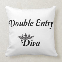Double Entry Diva Throw Pillow