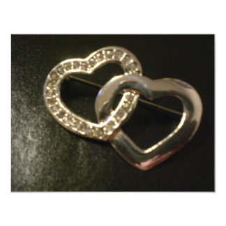 Double Entwined Love Hearts Card
