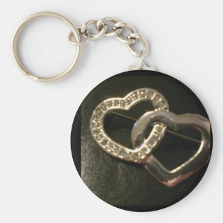 Double Entwined Love Hearts Keychain