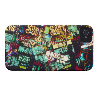 Double exposure, casino signs, Las Vegas, iPhone 4 Case