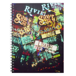 Double exposure, casino signs, Las Vegas, Spiral Notebook