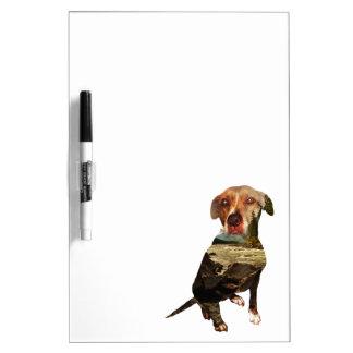 double exposure dog Dry-Erase board