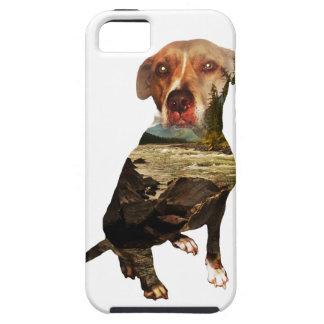 double exposure dog iPhone SE/5/5s case