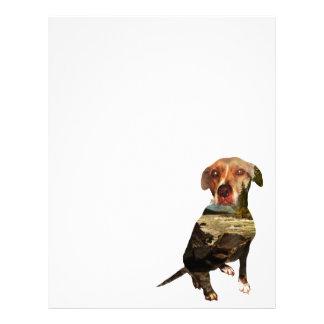 double exposure dog letterhead