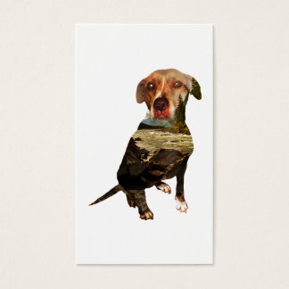 double exposure dog punch card