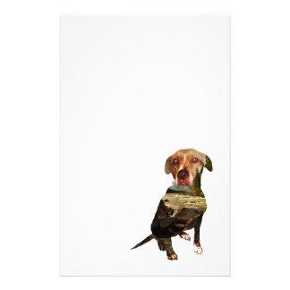 double exposure dog stationery
