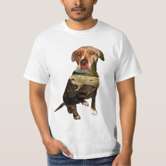 double exposure dog T-Shirt