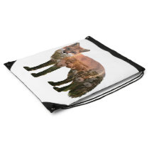 Double Exposure Fox Drawstring Backpack