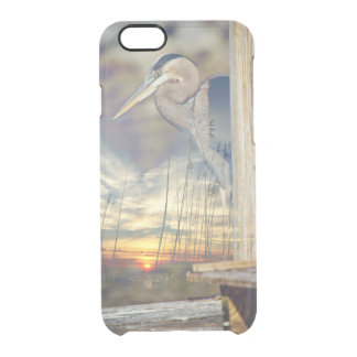 Double Exposure Heron Sunset Clear iPhone 6/6S Case