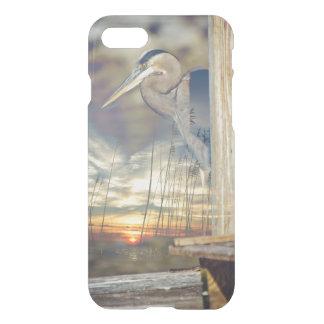 Double Exposure Heron Sunset iPhone 7 Case