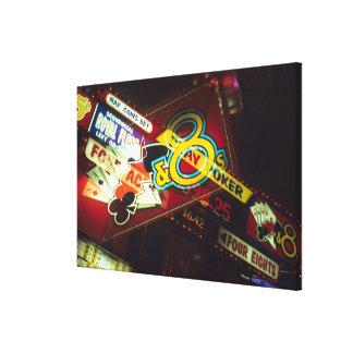 Double exposure, interior Casino, Las Vegas, Canvas Print