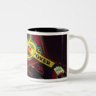 Double exposure, interior Casino, Las Vegas, Two-Tone Coffee Mug