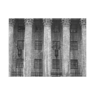 double exposure NYC Building and trees Canvas Print