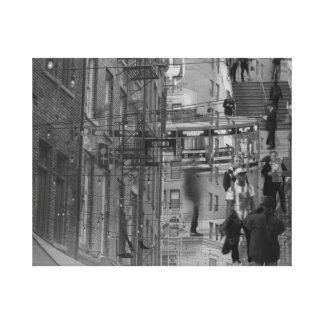 double exposure NYC buildings and grand central Canvas Print