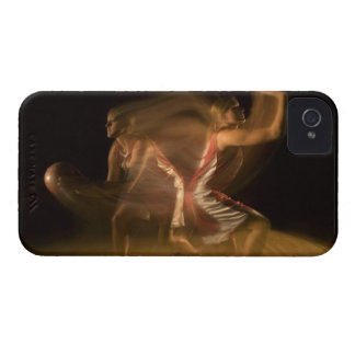 Double exposure of woman playing basketball iPhone 4 cover