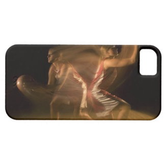Double exposure of woman playing basketball iPhone SE/5/5s case