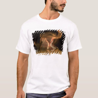 Double exposure of woman playing basketball T-Shirt