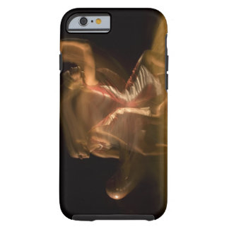Double exposure of woman playing basketball tough iPhone 6 case