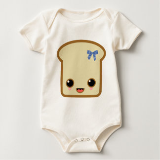 double face toast life blue bow rompers