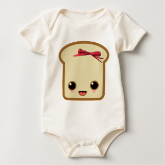double face toast life bow baby bodysuits