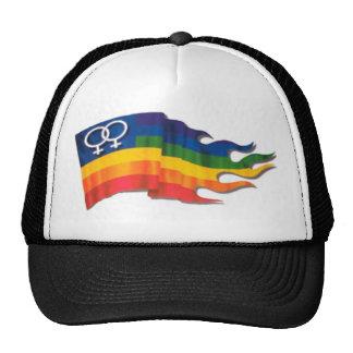 Double Female Pride Flag Trucker Hat
