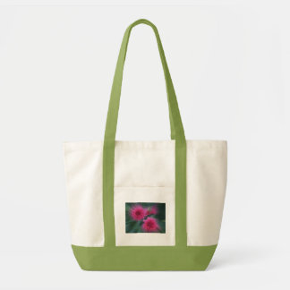 double flower blur tote bag