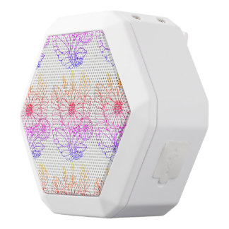 Double Flower Spray White Bluetooth Speaker