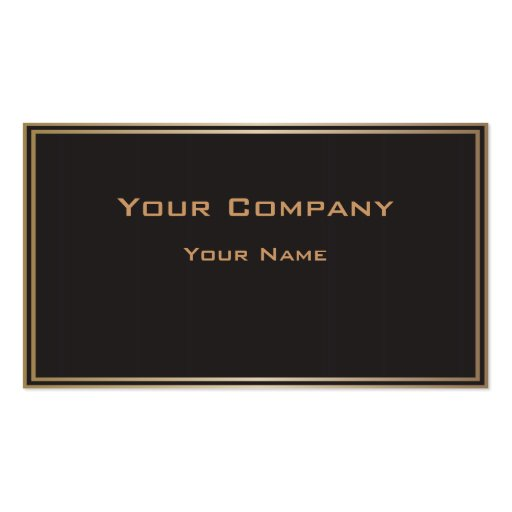 Double Gold Border Black Corporate  Business Card