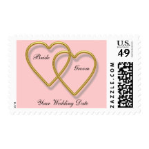 Double Gold Heart Stamp