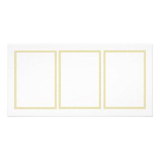Double Gold Metallic Border on Bubbly White Card