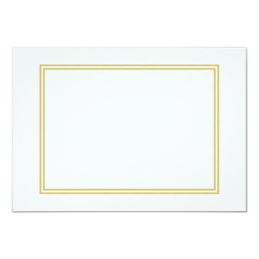 Beach Themed Double Gold Metallic Border on Bubbly White Card