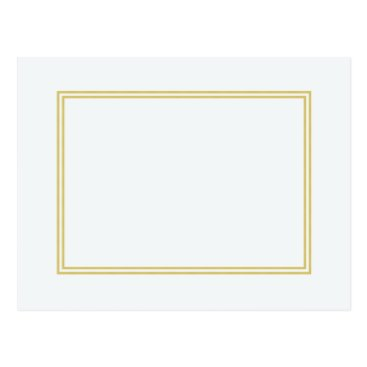 honor_and_obey Double Gold Metallic Border on Bubbly White Postcard