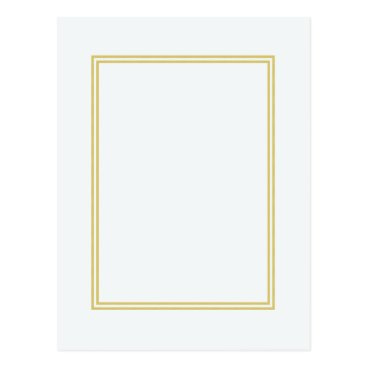 McTiffany Tiffany Aqua Double Gold Metallic Border on Bubbly White Postcard