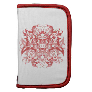 Double Goth Tribal Flourish in Red and Pink Folio Planners