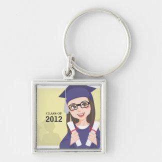 Double Graduation Keychain